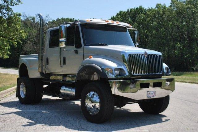 Semi Pick Up Truck Half An Half Medium Duty Trucks Big Trucks Muscle Truck