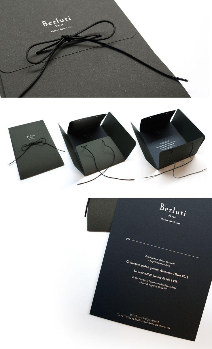 Berluti Mazarine Agence De Communication Luxe Fashion Invitation Card Design Invitation Card Design