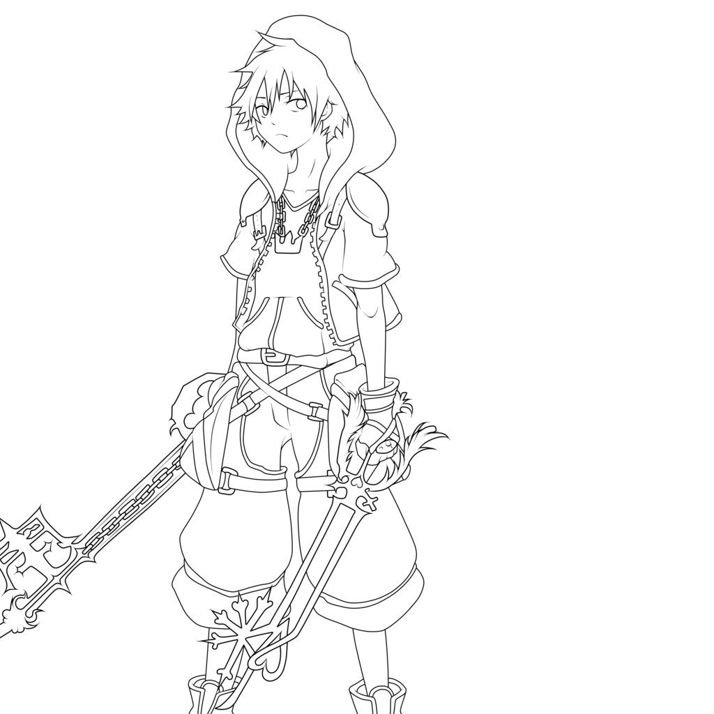 Free Kingdom Hearts Coloring Pages With Printable Kingdom Hearts Coloring  Pages For Kids