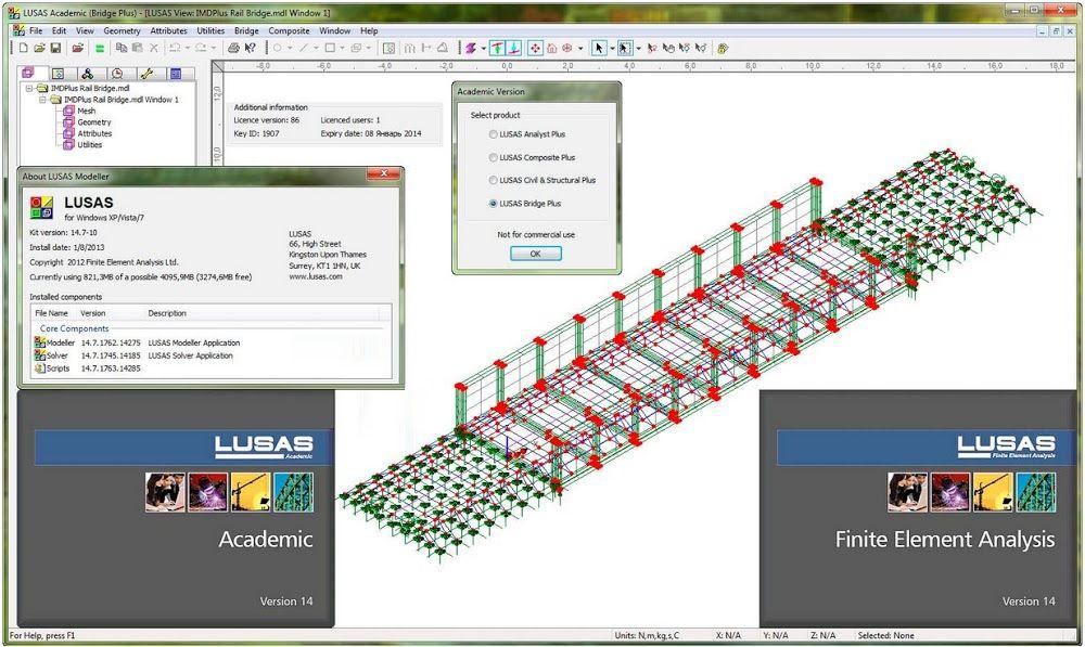 Lusas Academic Engineering Analysis And Design Software Software Design Software Education