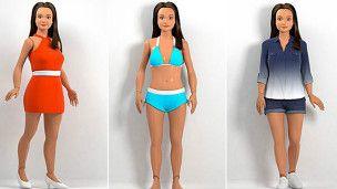 Una Barbie con proporciones humanas