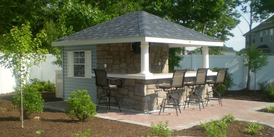pool houses sheds bar | 12\' x 14\' Siesta Poolside Bar (vinyl ...