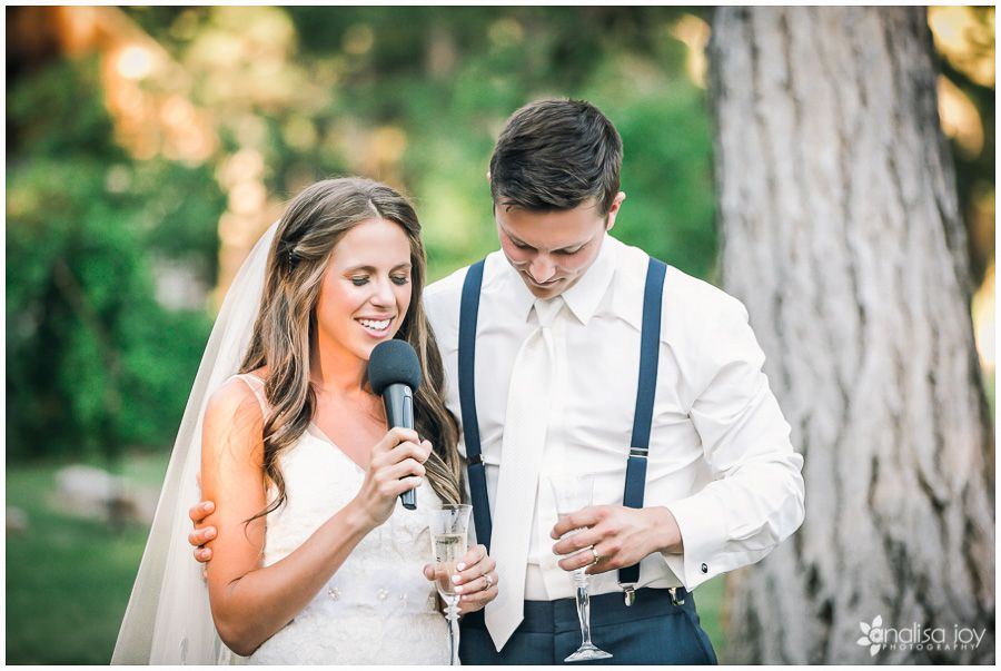 Wedding: Matt & Alex // Weatherwood LLC, Columbia Falls, Montana » Analisa Joy Photography » Rustic Wedding Montana » Barn Wedding Montana // Bride & Groom Toast // Bride & Groom Speech // Bride & Groom Prayer