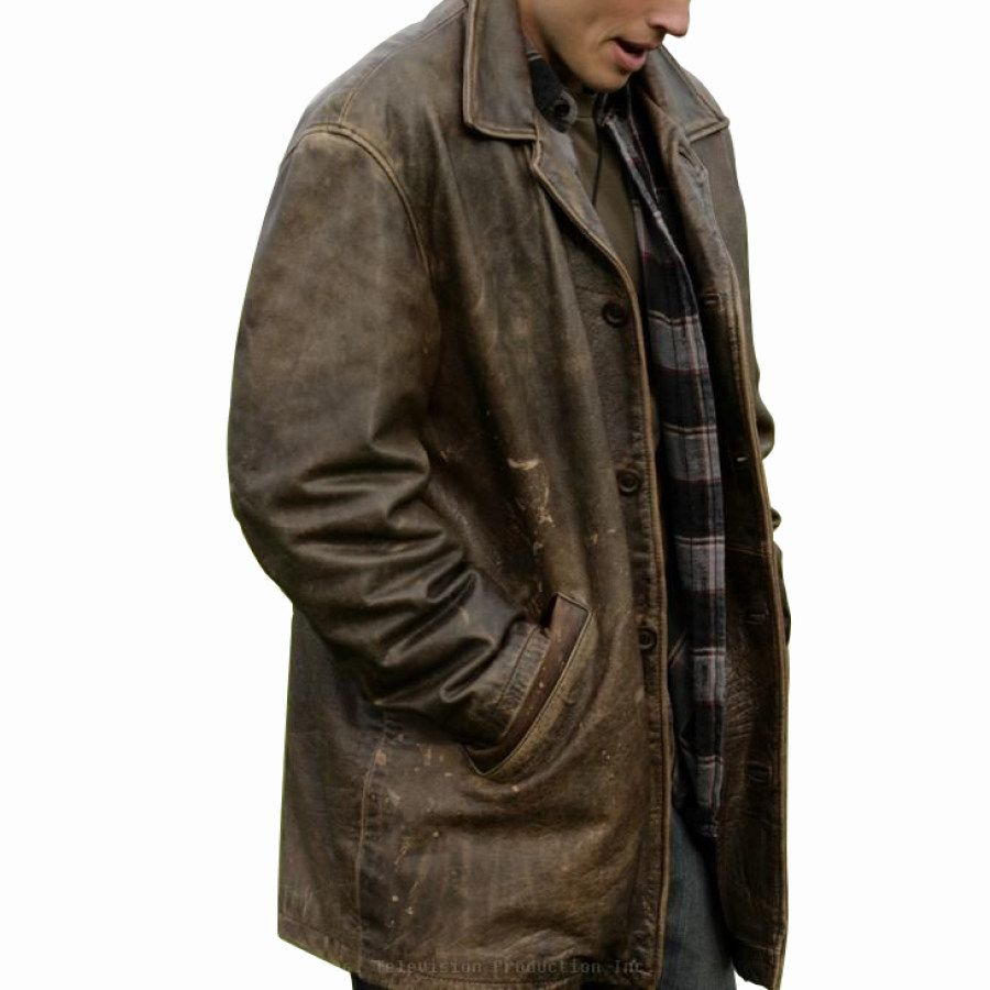 Mens Outdoor Leather Fashion Coat Ootdmw Com In 2021 Distressed Leather Jacket Leather Jacket Men Leather Jacket [ 900 x 900 Pixel ]