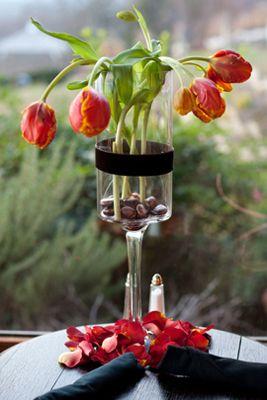 Red Tulip Centerpiece