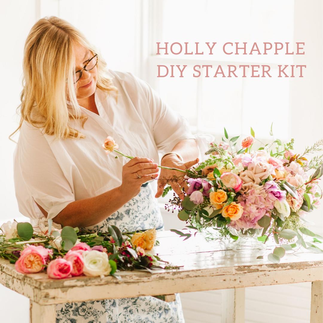 Holly Chapple DIY Floral Starter Kit Spring wedding