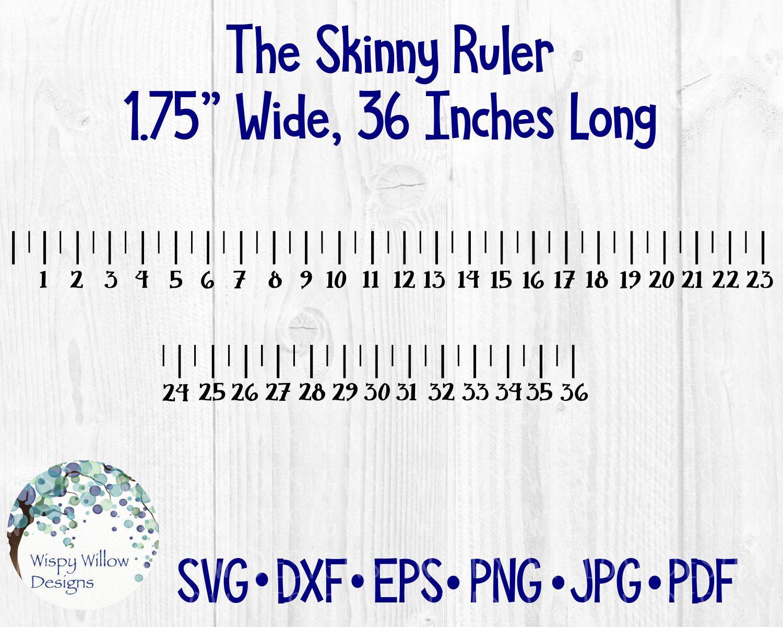 Skinny Ruler Svg Dxf Png Pdf 36 Inch Ruler Measurement Desk