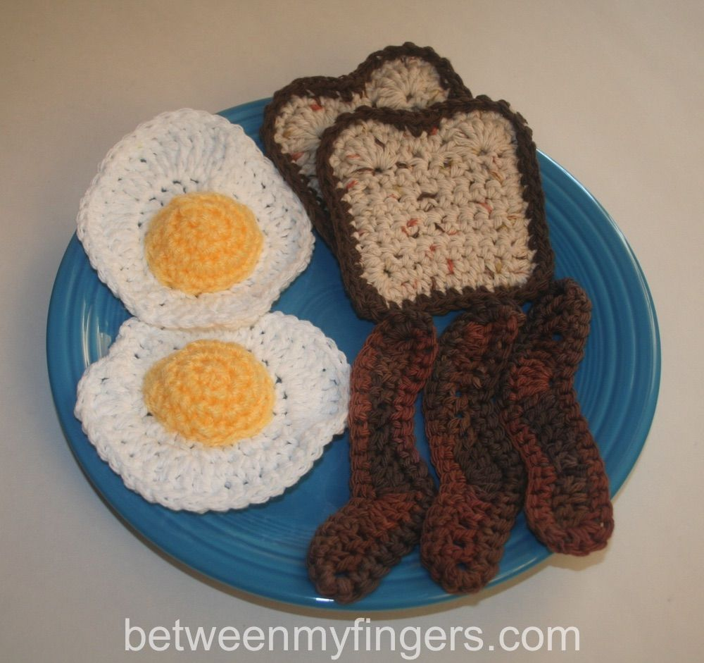 Use with bacon from my BLT pattern for a great breakfast! | crochet ...