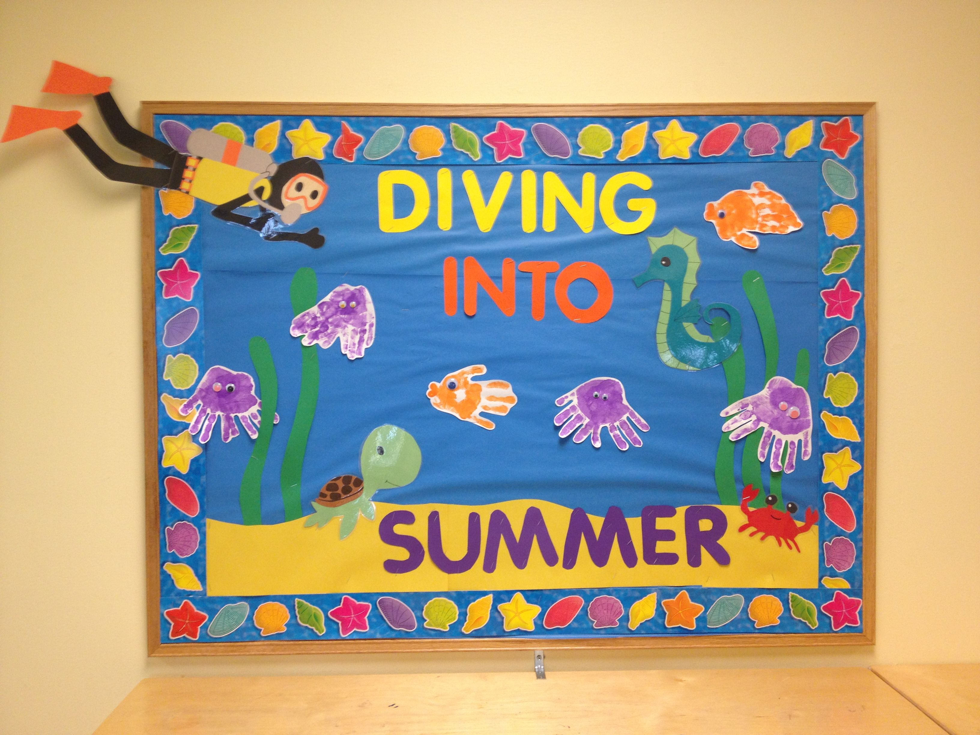 Diving into summer bulletin board! (With images) | Summer ...