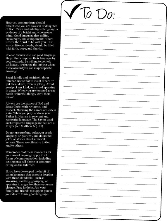 Mormon Share } Doers of the Word To Do List Object lessons, Lds - another word for to do list