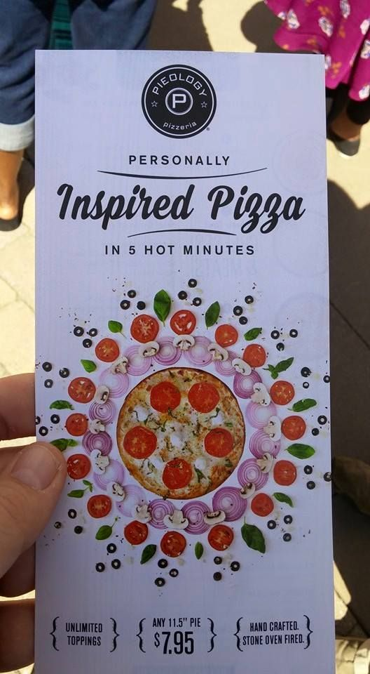 Inspired Pizza. Cute design. Well done.