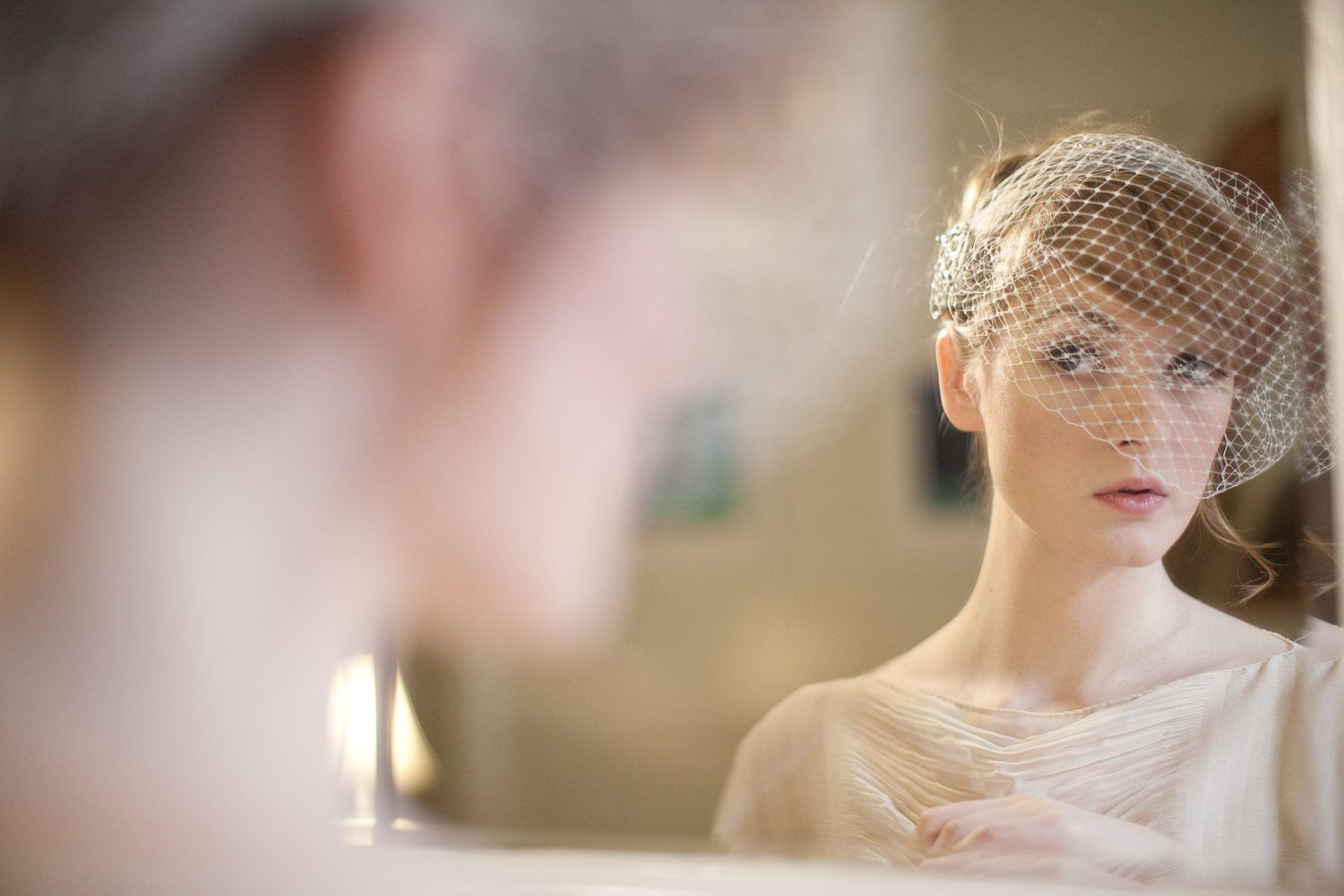 Simple birdcage bridal veil with jeweled detail ball pinterest