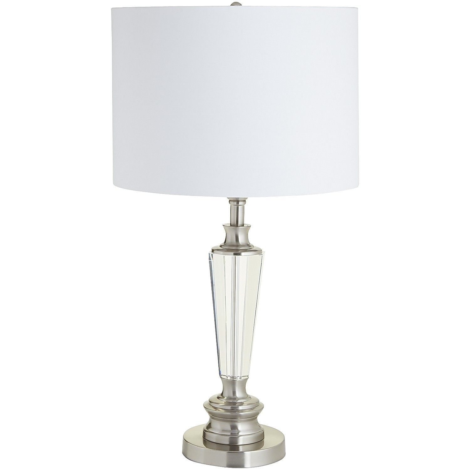 Silver chatham crystal table lamp nickel cast iron lamps silver chatham crystal table lamp nickel cast iron geotapseo Images