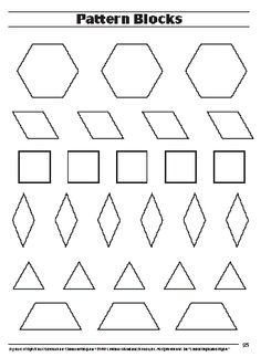 Pattern Block Template  Google Search  Math  Pattens