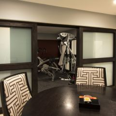 """nice way to """"hide"""" your home gym  basement design home"""