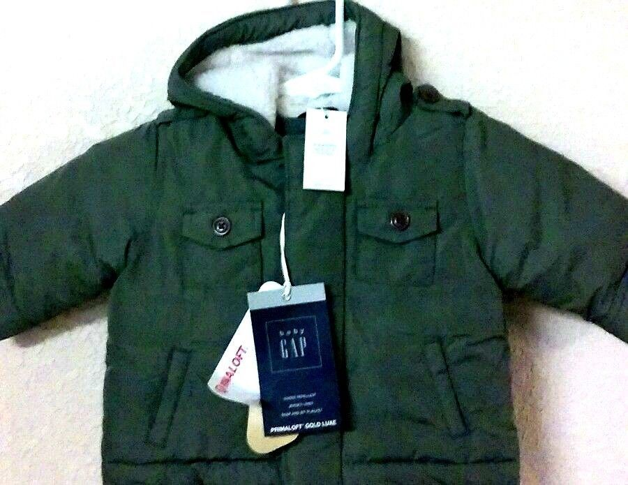 2807498084ae Baby Gap Sherpa Puffer Jacket Parka Coat Size 0-6 Months Green