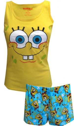 5219d7d309 Nickelodeon SpongeBob Cotton Shortie Pajama