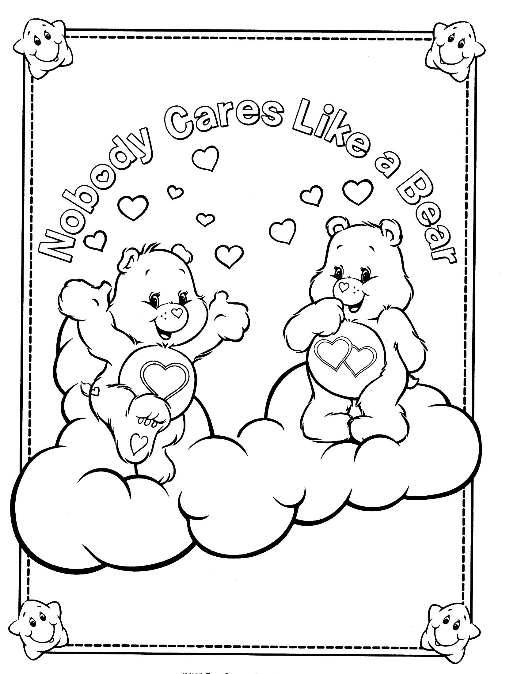 care bears coloring page embroider Pinterest Care