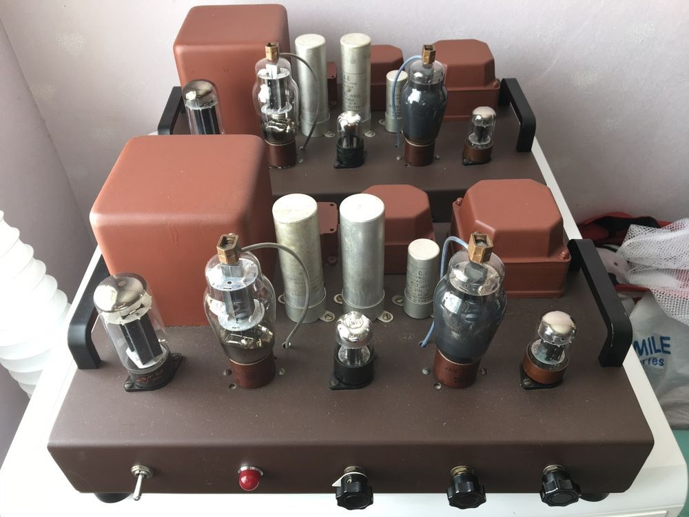 A pair of tube amplifiers 807 westrex transformers for