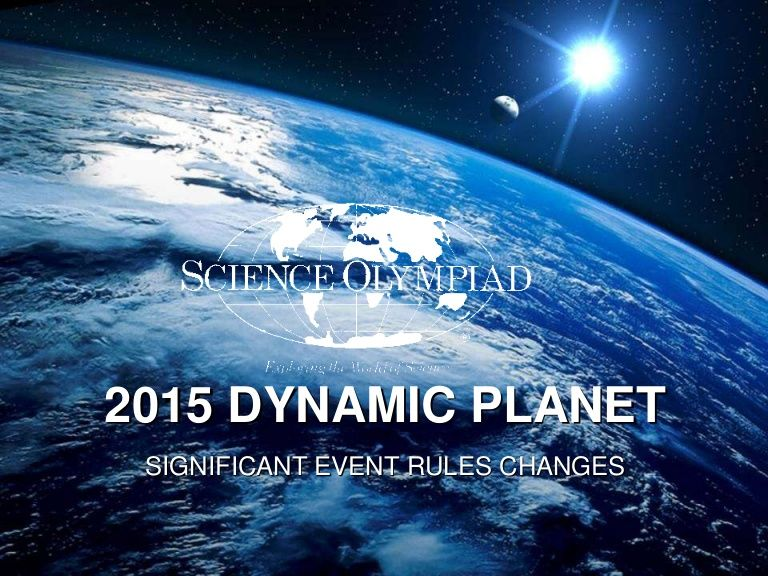Learn about the significant rule changes for the 2015 science learn about the significant rule changes for the 2015 science olympiad dynamic planet event including timed station formats and the use of probe ware toneelgroepblik Gallery
