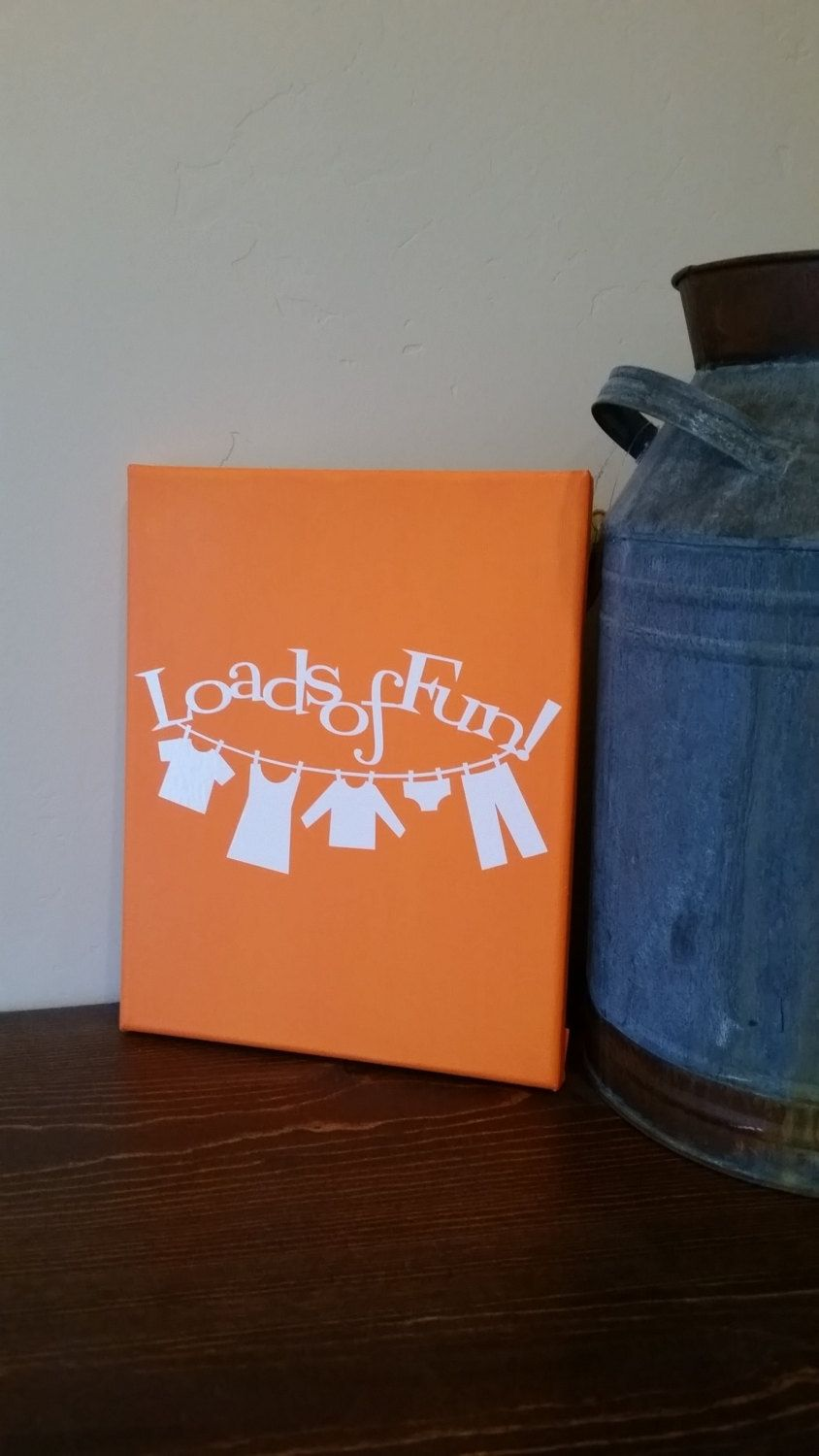 Loads of Fun Washroom Canvas Art - pinned by pin4etsy.com