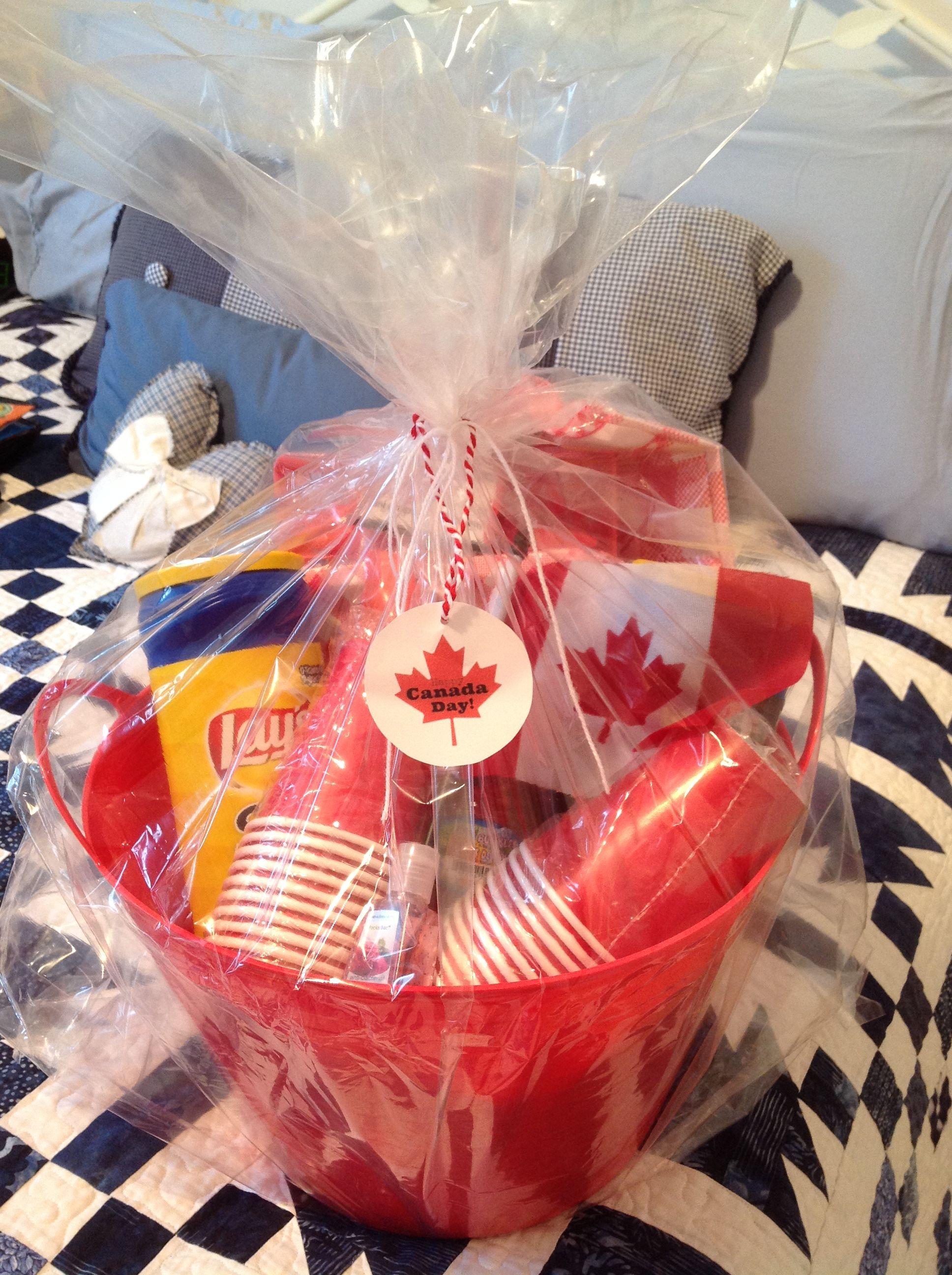 Canada day gift basket raffle basket canada gift gift
