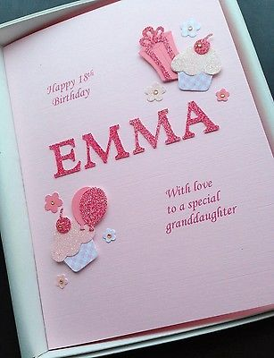 16th 17th Birthday Card For Girls Personalised Daughter Grandaughter