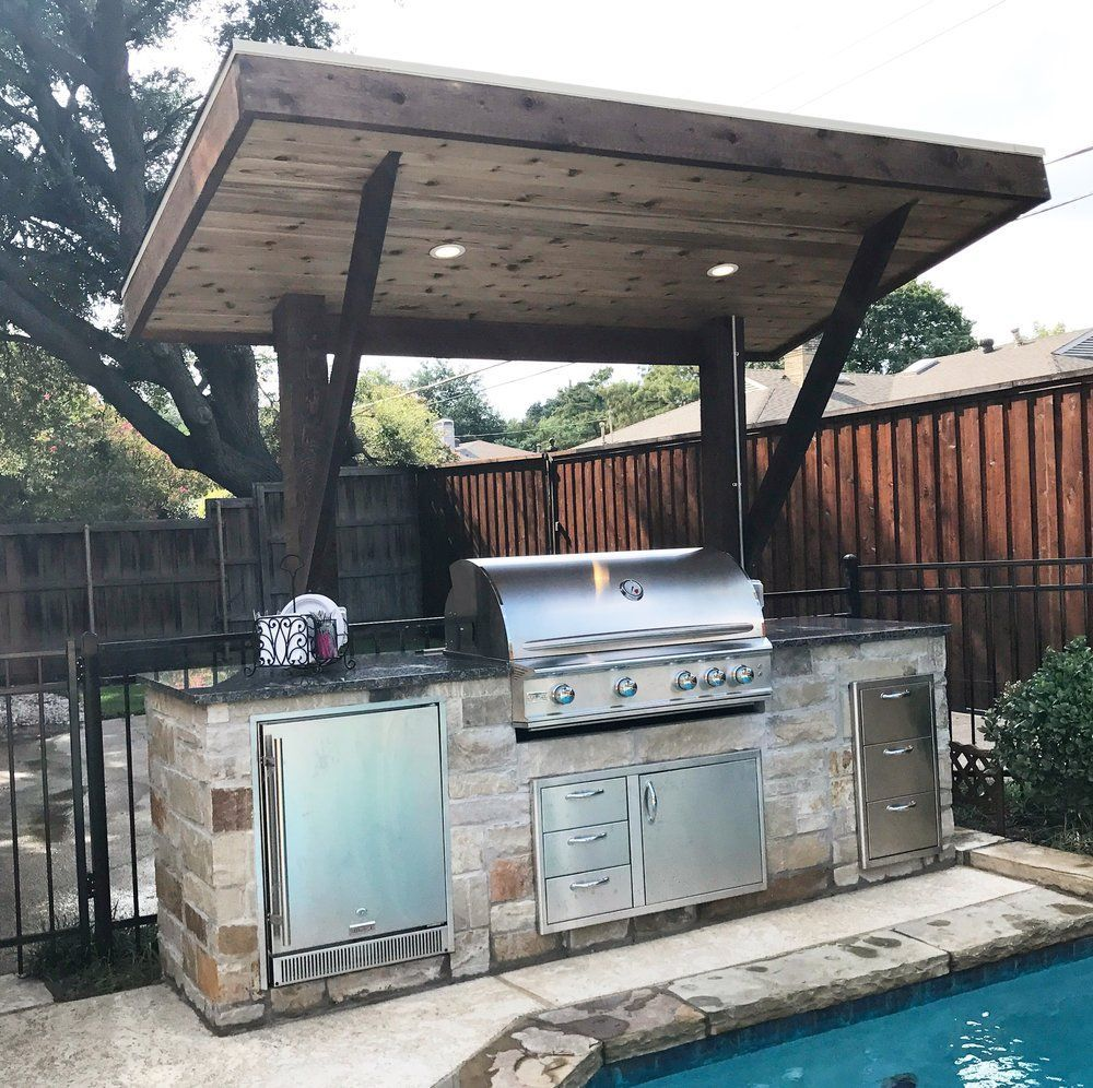 Lean-To Outdoor Kitchen | The Chatham Collective | Grillunterstand ...