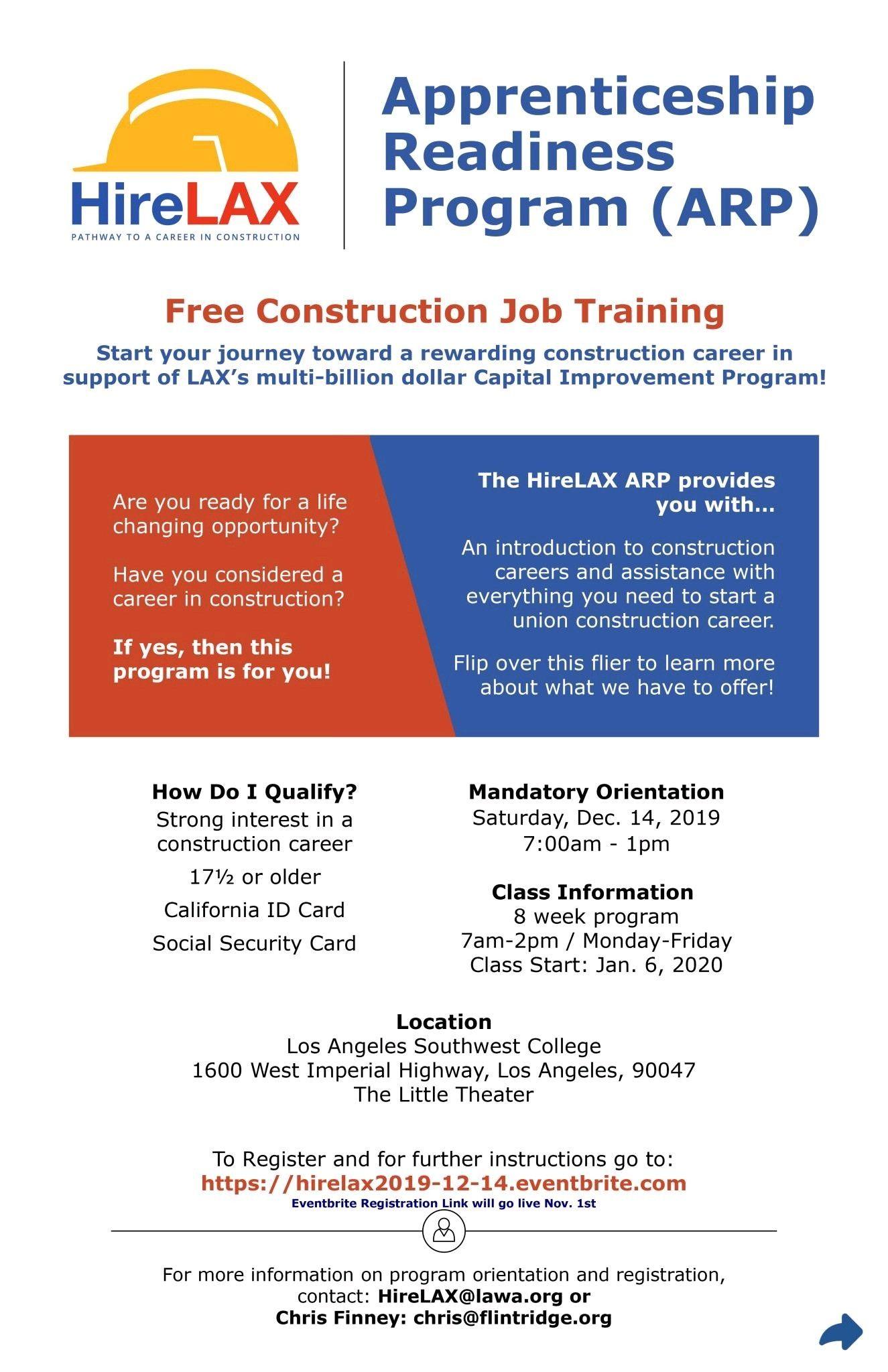 Pin By Sadik Perez On Los Angeles International Airport Job Training Construction Jobs Apprenticeship