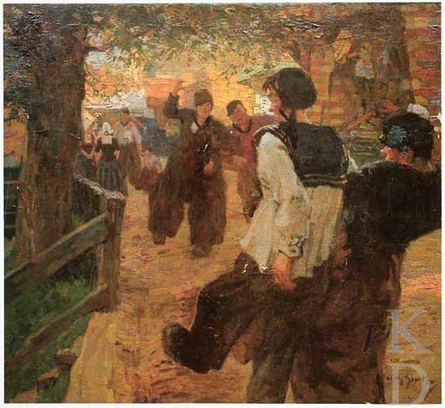 Willy Sluiter Kermis in Volendam 1888-1949 Glerum (Den Haag), 185 #NoordHolland #Volendam
