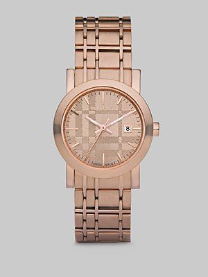 Burberry Watch. Quite a feat of design & tone-on-tone Rose Gold!