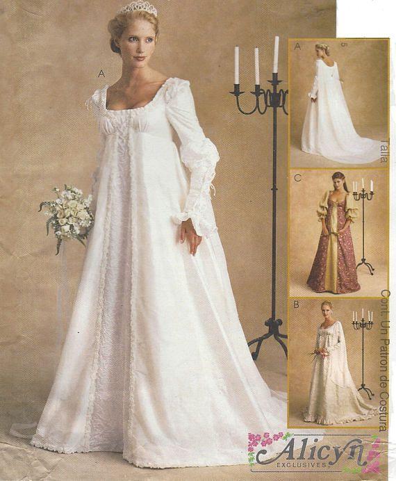 Alicyn Womens Stunning Renaissance Wedding Gown McCalls Sewing ...