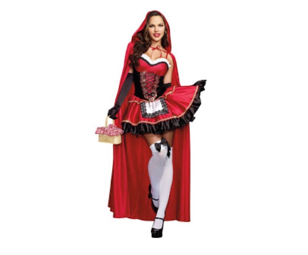 Little Red Riding Hood Costume For Women Fancy Adult Halloween Cosplay Dress+cloak Cosplay Costume For Party Anime Costumes Novelty & Special Use