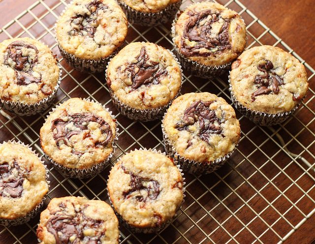 Nutella Banana Muffins by niftyfoodie, via Flickr