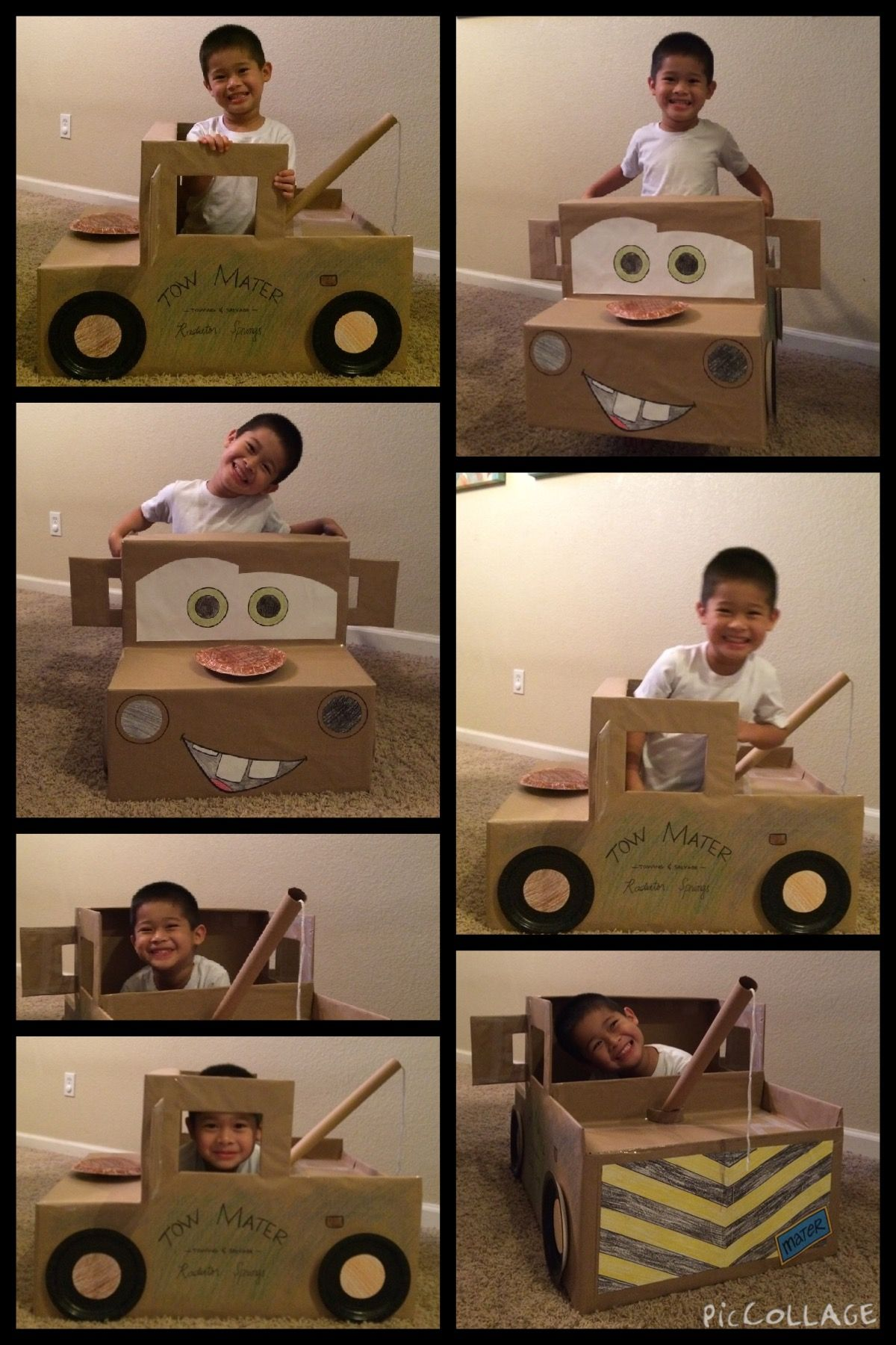 mater - cardboard car for the race                                                                                                                                                                                 More