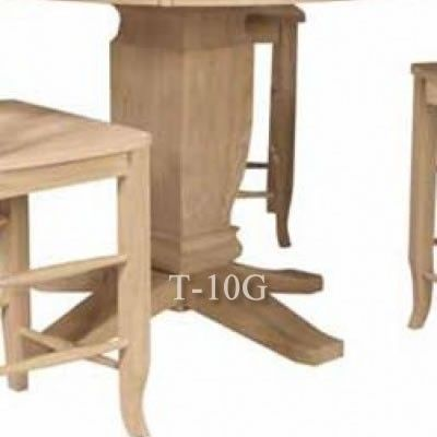 Base Makes Table Counter Height UNFINISHED FURNITURE   Real Solid Wood