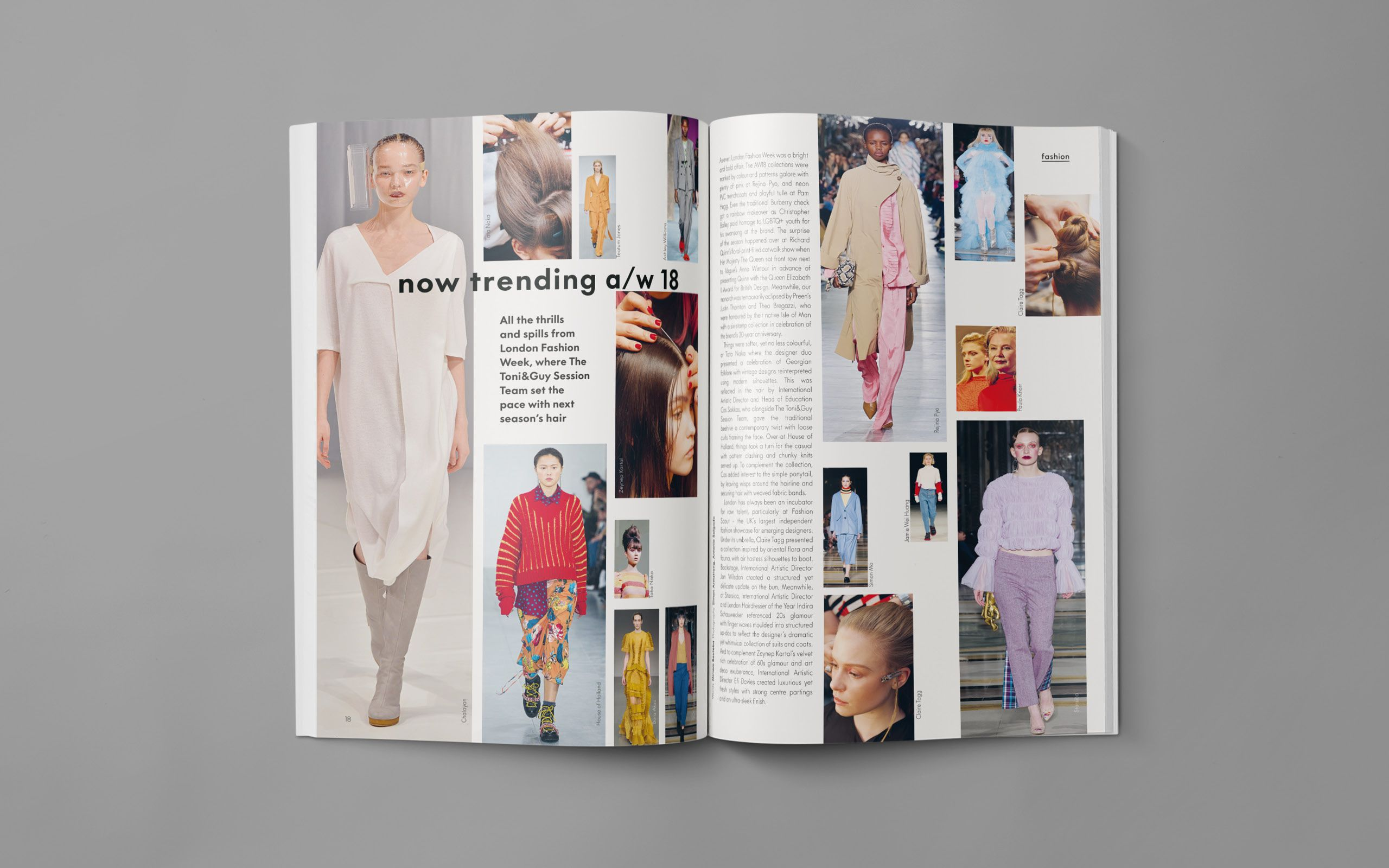 London Fashion Week Trend Roundup Feature Article Magazine Layout Layout Design Layout