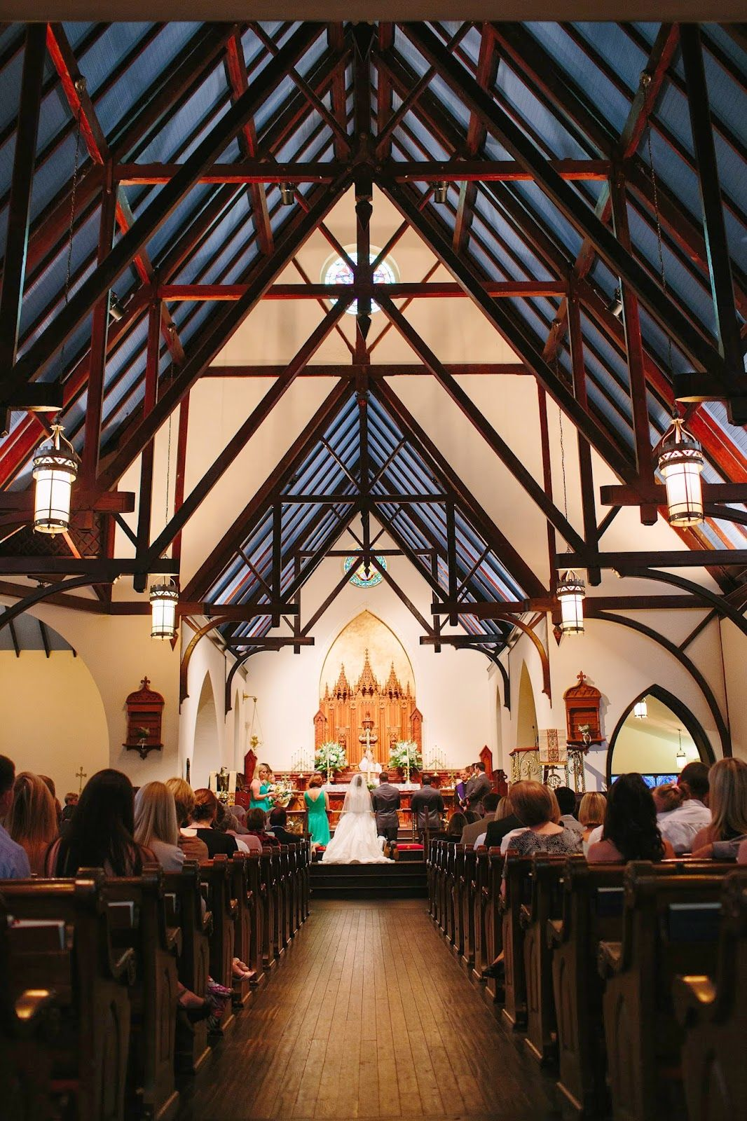 Beautiful Ceremony In St. John's Episcopal Church Downtown