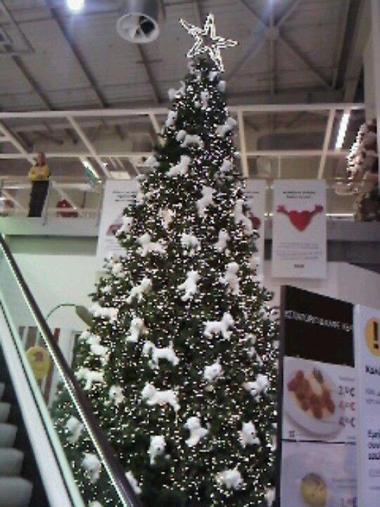 Westie Christmas tree at IKEA Athens - Westie Christmas Tree At IKEA Athens Westie Aggie Christmas
