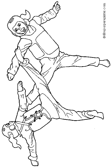 Karate Coloring Pages For Kids Taekwondo Kleurplaten Sport