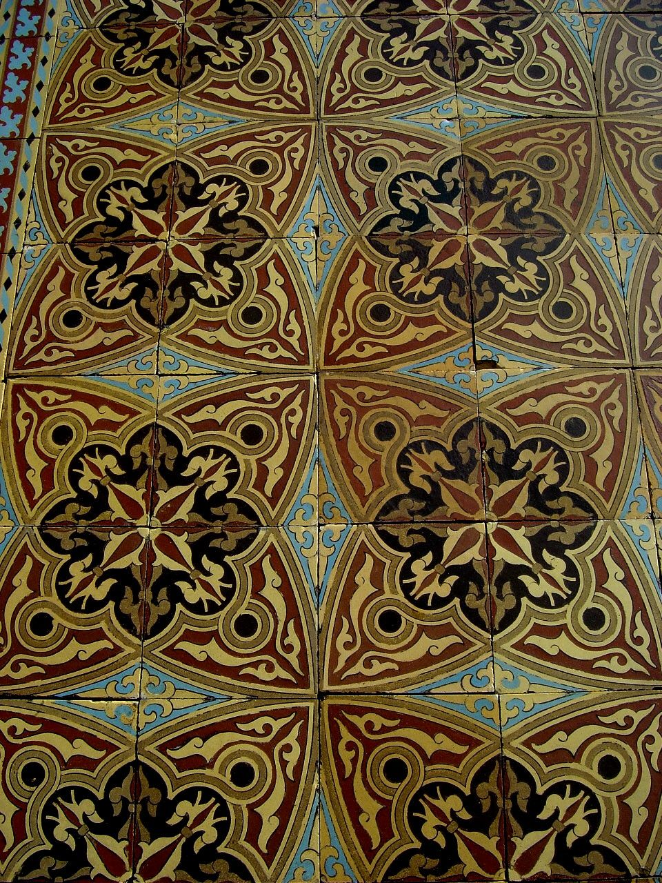 3m2 antique boch freres moorish themed tiles with borders c1860 antique boch freres moorish themed tiles with borders the antique floor company doublecrazyfo Image collections