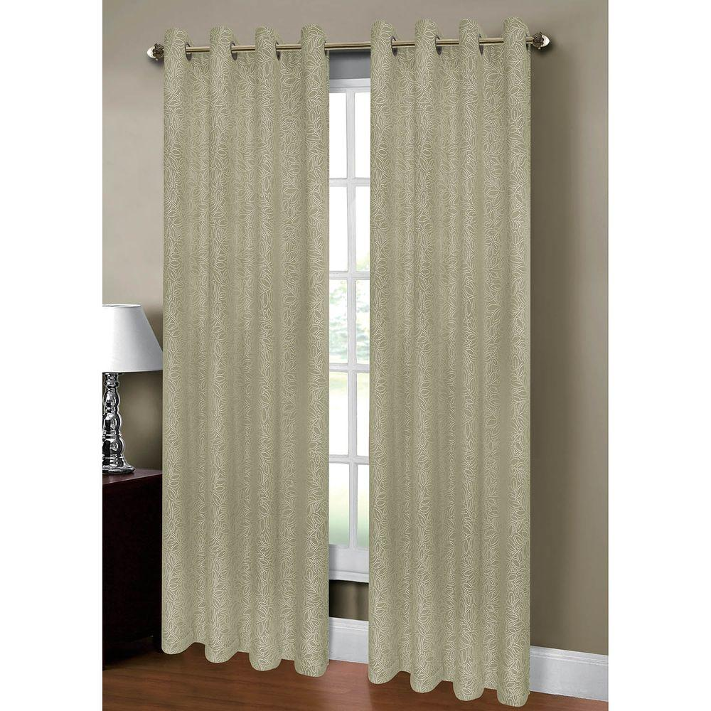 Window Elements Semi Opaque Leila Jacquard Extra Wide 84 In L