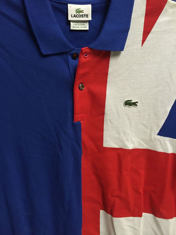 a9373505 LACOSTE Mens Polo Golf Shirt 7 EXTRA LARGE XL UK GREAT BRITAIN FLAG  COLORBLOCK #Lacoste #PoloRugby
