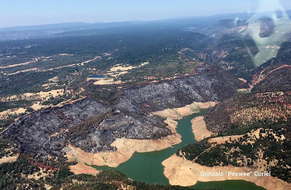 The Saddle fire from 3,200' today. | Old pictures, Outdoor ...
