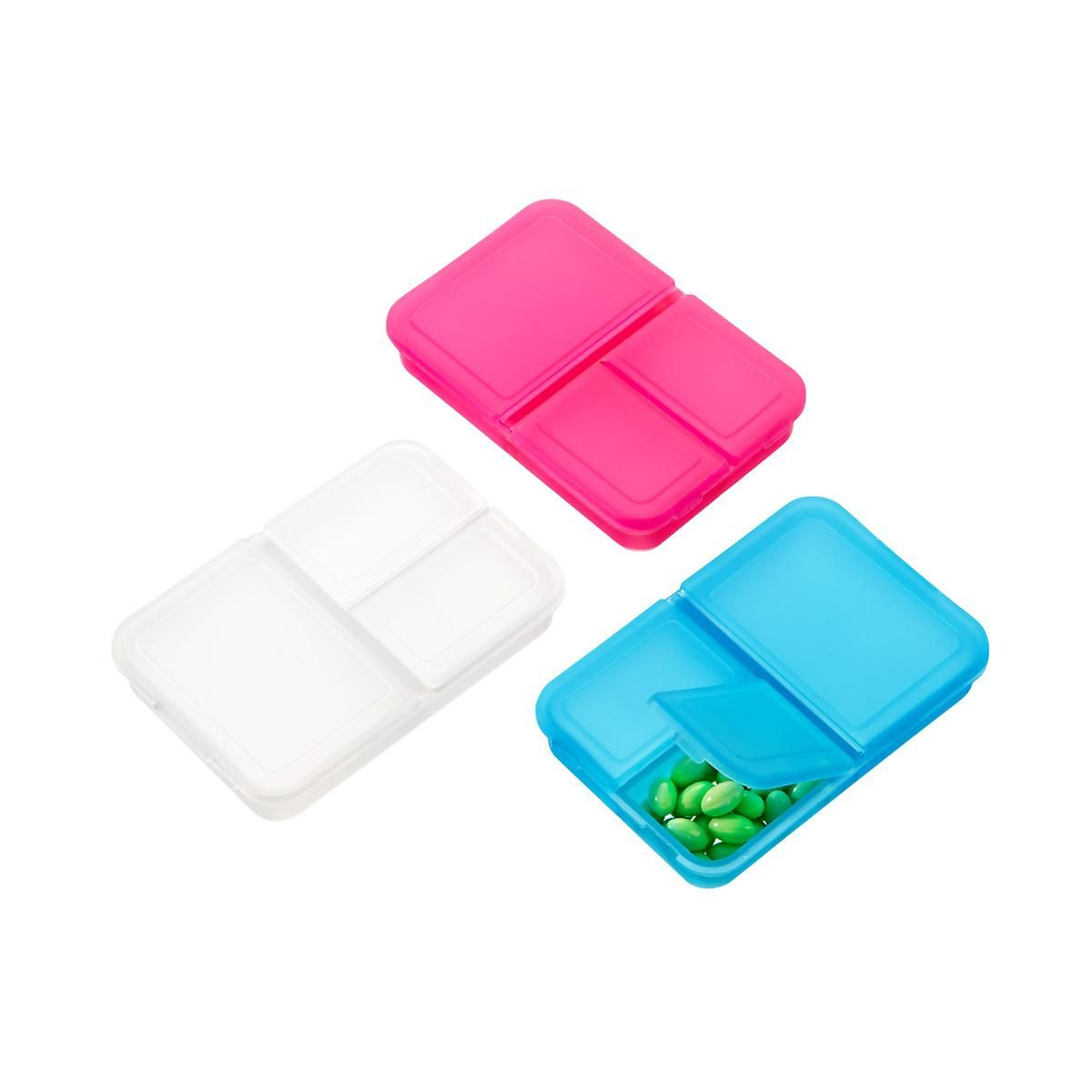 3 Section Rectangle Pill Box Pill Boxes Pill Organizer Travel Pill Container