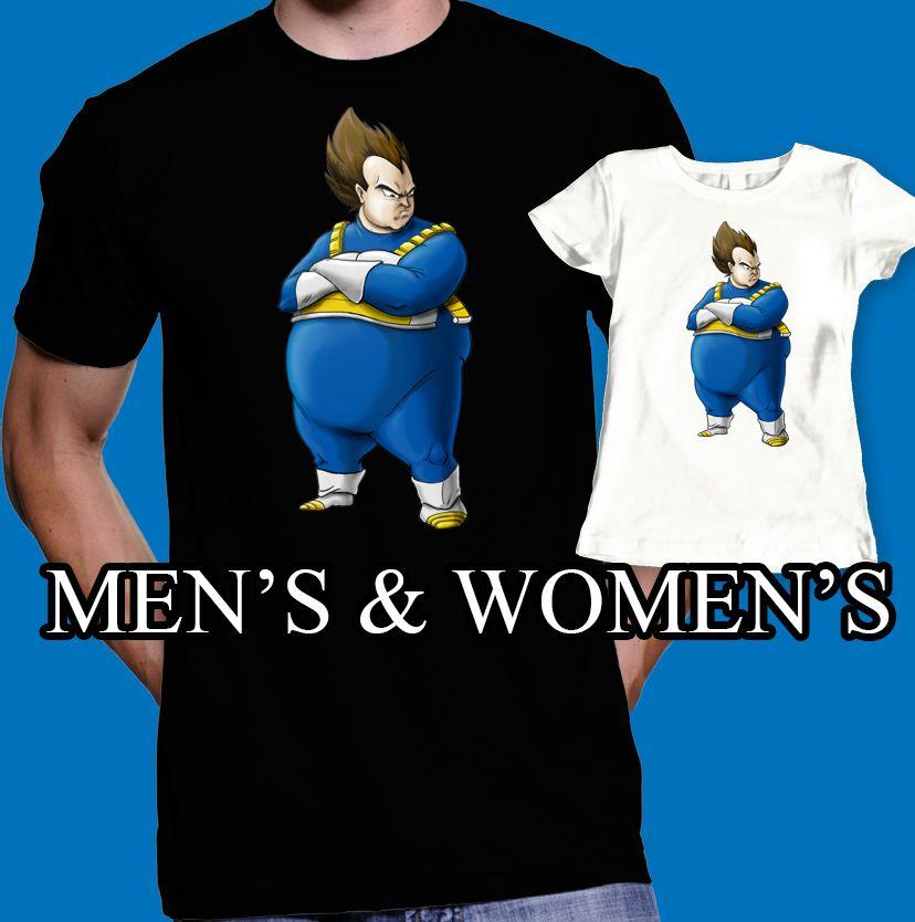 Fat vegeta t-shirt dragon ball z shirt men s women s fashion  3f640b3ee