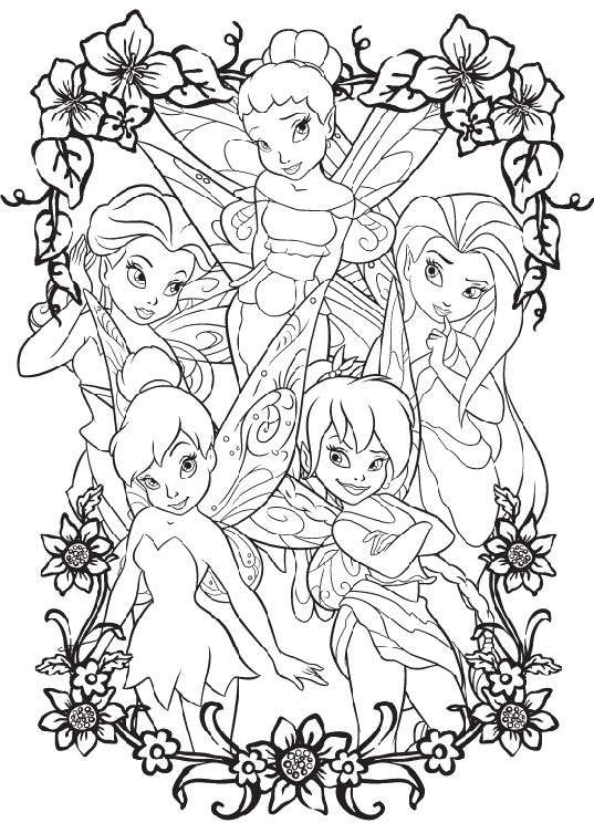 Photos Tinkerbell With Friends Coloring Pages Tinkerbell Coloring Pages Fairy Coloring Pages Disney Coloring Pages