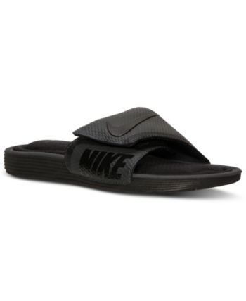 NEW Nike Kawa Adjust Slide Boy/'s Flip Flop Sandal in Racer Blue//White