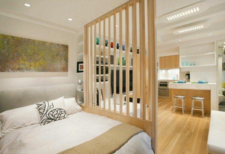 Aménagement intérieur de petit appartement cloison separation de piece