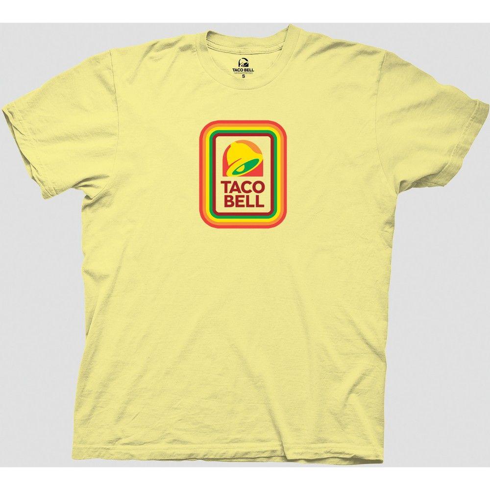 Men's Taco Bell Short Sleeve Graphic TShirt Yellow 2XL